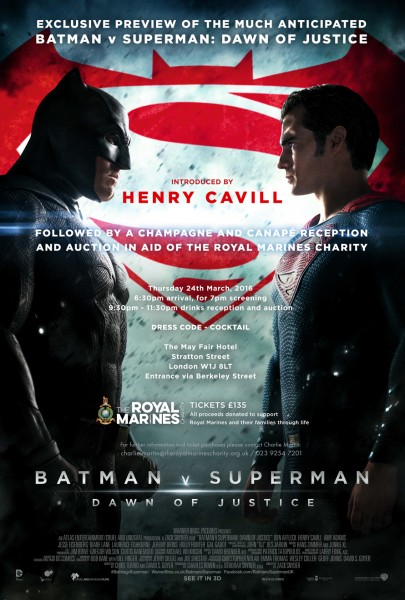 Batman V Superman Royal Marines Charity Screening V1