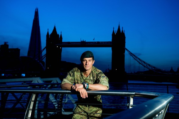 Highly Commended:The Peregrine Trophy is awarded to the section or unit submitting the best portfolio of six prints (black and white and/or colour) of Service-related subjects Sponsor: Calumet. Pictured at HMS President, by Tower Bridge in London is Hon Lt Col Bear Grylls RMR.
