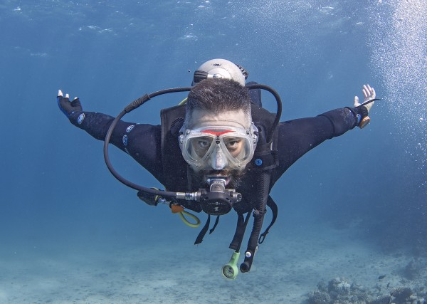 Deptherapy programme member and former Royal Engineer Luke Simpson at Roots Red Sea in Autumn 2016. Photo - Dmitry Knyazev