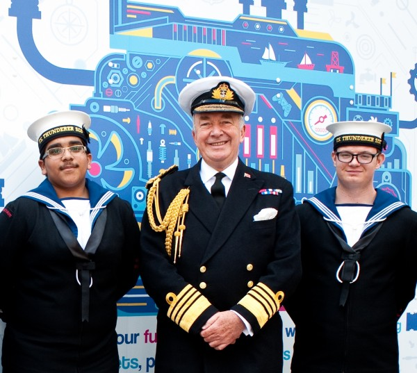 Admiral Lord West of Spithead with Sea Cadets at Seafarers UK's Annual Meeting last year