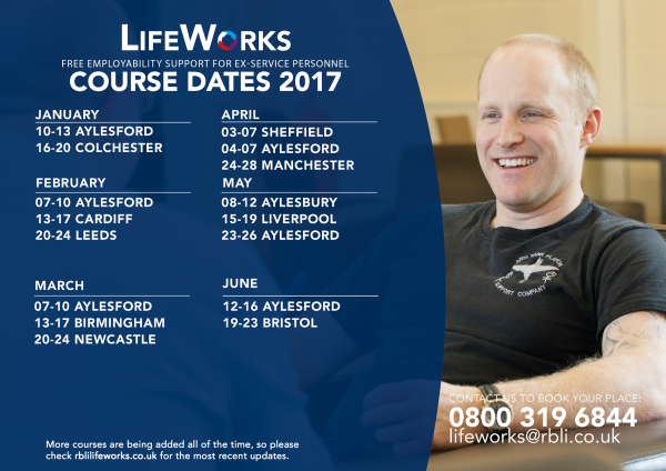 LifeWorks - Course Dates 2017