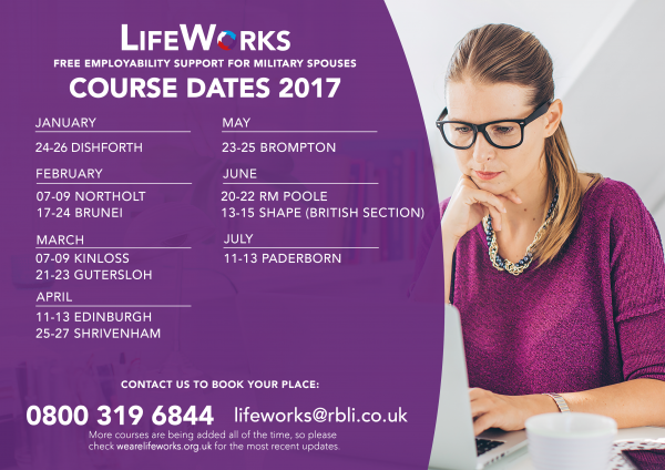 LifeWorks Families - Course Dates 2017