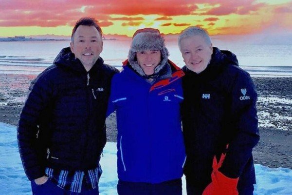 Caption: (L-R) Ian Langley, Graeme Shankland and Roger Wood at their training camp in Norway.