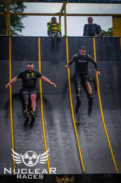Matty and Rob ending the race