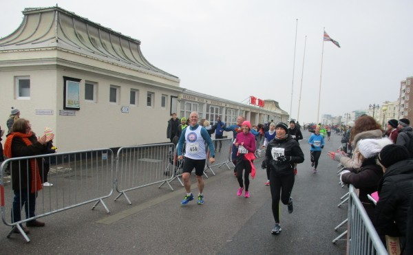 Andy Henry approaches the finish line