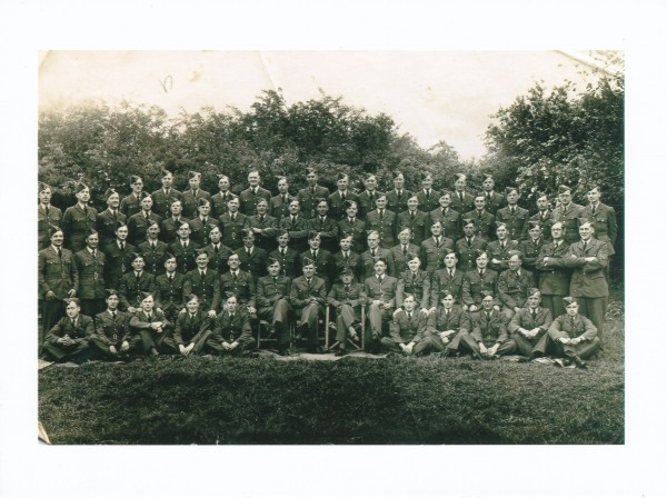 June 1944 before going to France - Gerard second row from the back, fift...