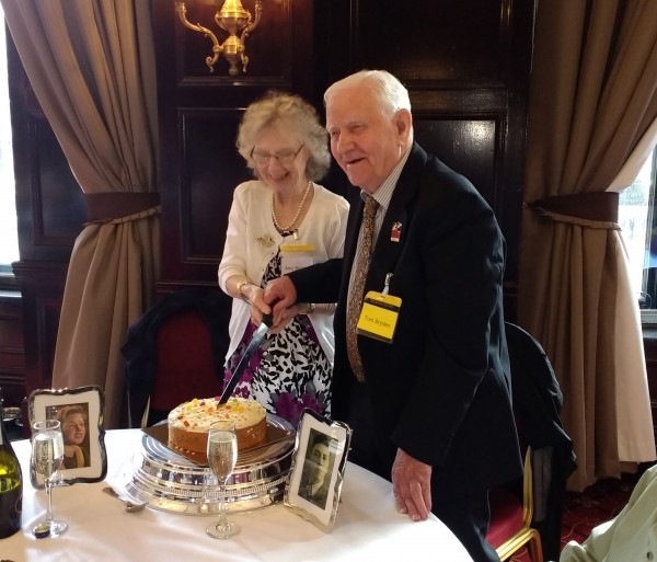 Tom and Amy Bryden at the Blind Veterans UK lunch club in Newcastle
