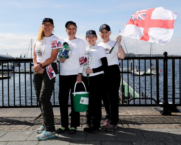 WRNS100 One Hundred Mile Walk Wales Serving and veteren WRNS have taken part in a 100 mile walk to commerate WRNS100 and to raise money for Royal Navy and Royal Marines Charity.