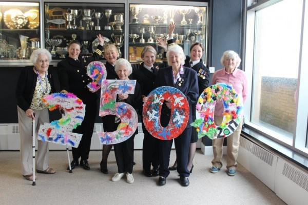 Former Wrens supported by Blind Veterans UK with currently serving Royal Navy women