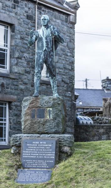 Hedd Wyn statute in Trawsfyndd