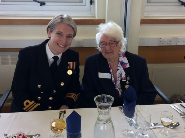 (Left to right) Lt Cmdr Kate Russell and Wren Lorna Cockayne