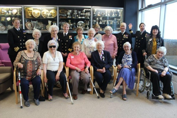 Female veterans and serving military women at Blind Veterans UK Brighton centre
