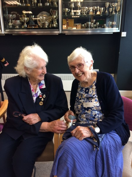 Lorna Cockayne (left) and Mary Turton (right) at Blind Veterans UK Brighton centre