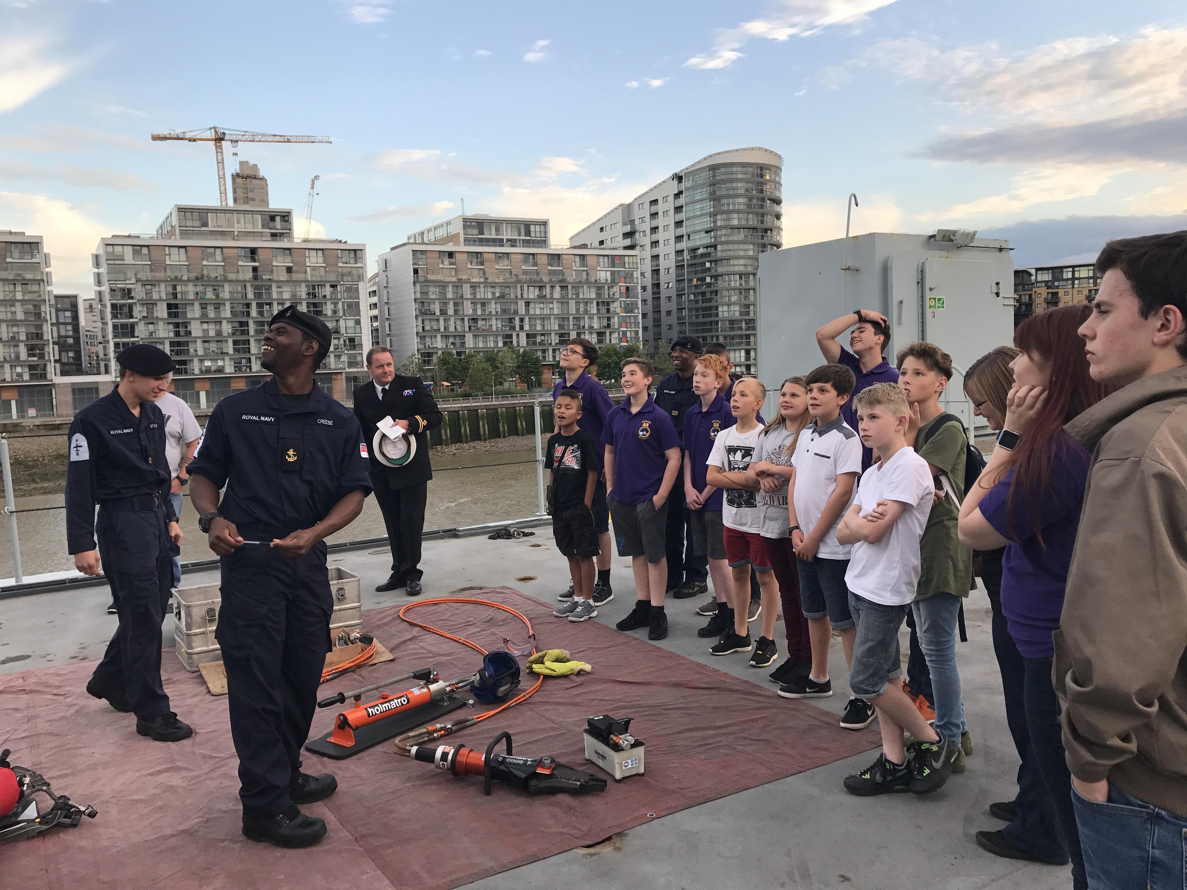 Sea Cadets visit RFA Argus to mark Seafarers Awareness Week