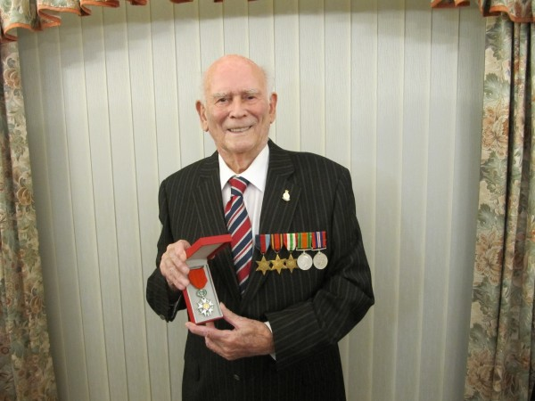 Roy Sinton with his Legion d'Honneur