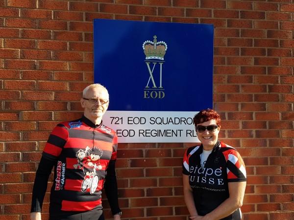 Sponsors Stephen Jakeman form Kirintec and Sara Tye redheadPR