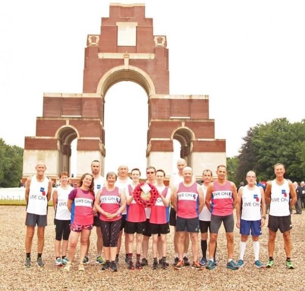 Commemorative Somme Poppy Run
