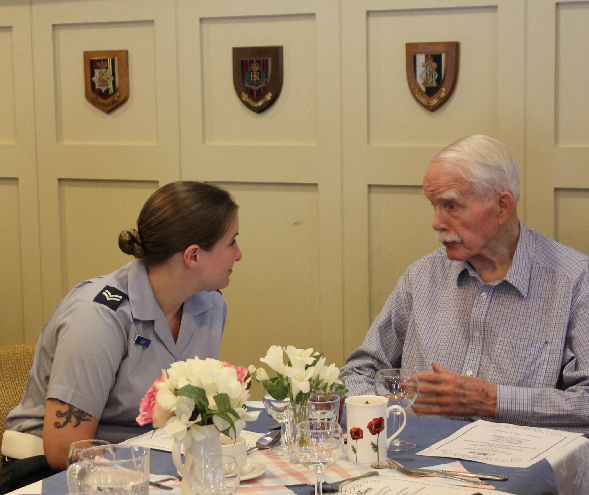 raf halton visits disabled veterans living at the royal star garter