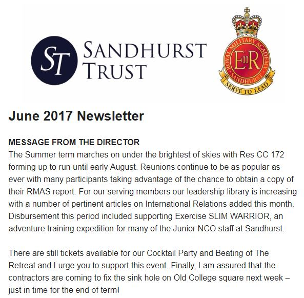 SandhurstTrustnewsletter