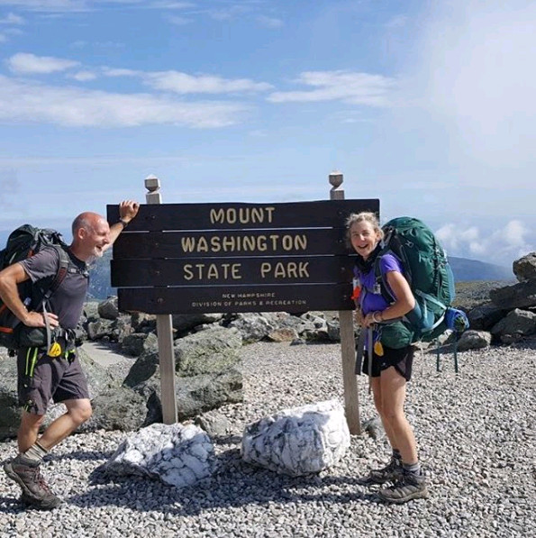 Mount Washington photo via couple's insta