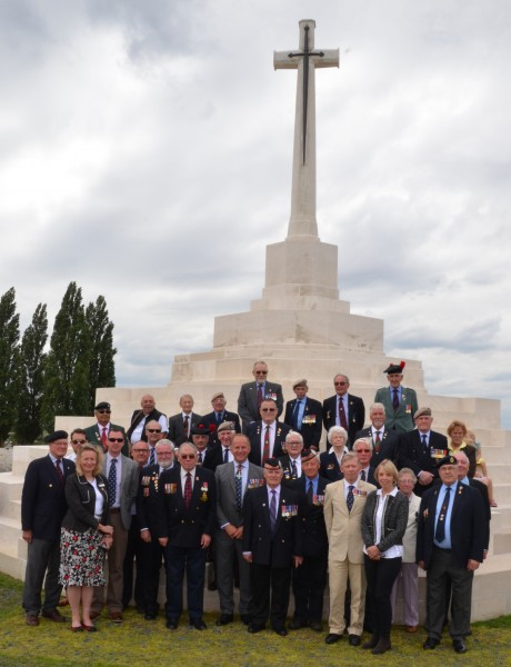 Our group at Tyne Cot Cemetery