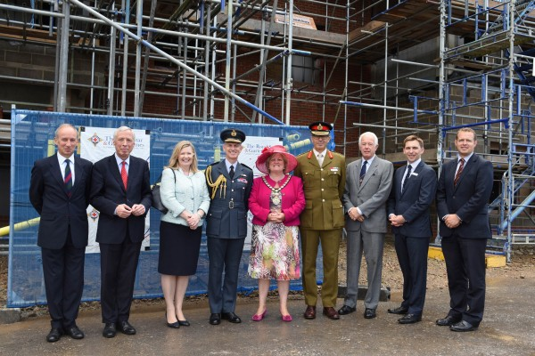 Attending the ceremony were: (L-R) Major General Martin Rutledge, Chief Executive of The ABF Soldiers' Charity; The Rt Hon The Earl Howe, Minister of State for Defence; Lady Hillier; Air Chief Marshal of the Royal Air Force, Sir Stephen Hillier; Chairman of Wycombe Council, Councillor Mrs Suzanne Brown; The Royal Star & Garter Homes' Chairman, Major General Tim Tyler, Vice President Vice Admiral Sir John Dunt and Chief Executive Mr Andy Cole; Mr Tom Wakeford, Joint Managing Director of Stepnell.