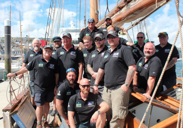 Crew members on the Turn to Starboard Round Britain Challenge 2017