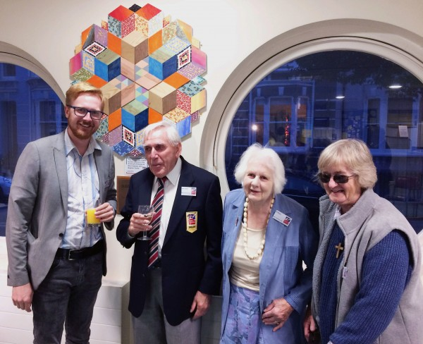 Lloyd Russell-Moyle MP with blind veterans John Taylor, Jill Bryce and C...