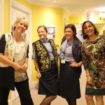 The Headley Court nurses enjoying their tour of the Home.