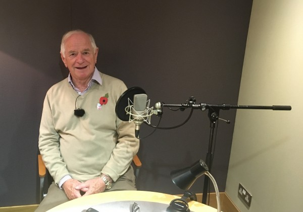 Johnny Ball in recording studio