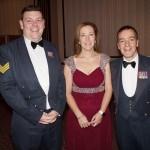 Sgt Mick Briggs, Troop Aid Trustee; Lorraine Baker; Group Capt Tone Baker