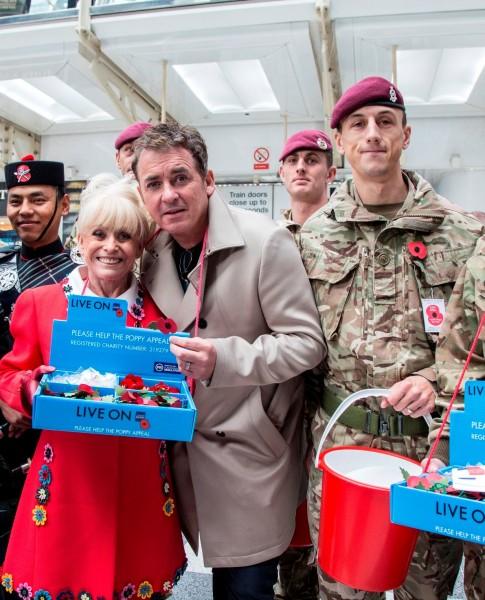 Barbara Windsor and Shane Richie get behind London Poppy Day 2017