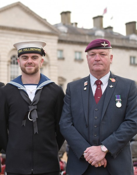 John Robinson (right) with his guide Connor Dooley