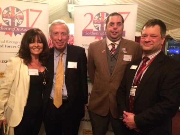 Soldiering On Awards Launch - Left to Right - Vicki Michelle, , Rt Hon E...