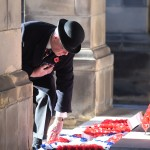 Lieutenant General Sir Alistair Stuart Hastings Irwin, KCB lays the Royal British Legion Scotland wreath at Edinburgh today,