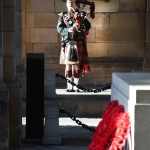 Pipers Remembrance Lament. Cpl Charles macLean, (32) of 2 SCOTS, the Royal Regiment of Scotland at the Service in Edinburgh.