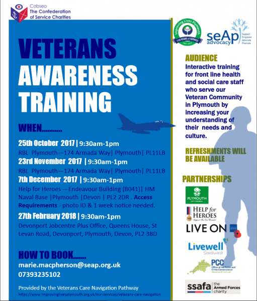Veterans Awareness Training poster