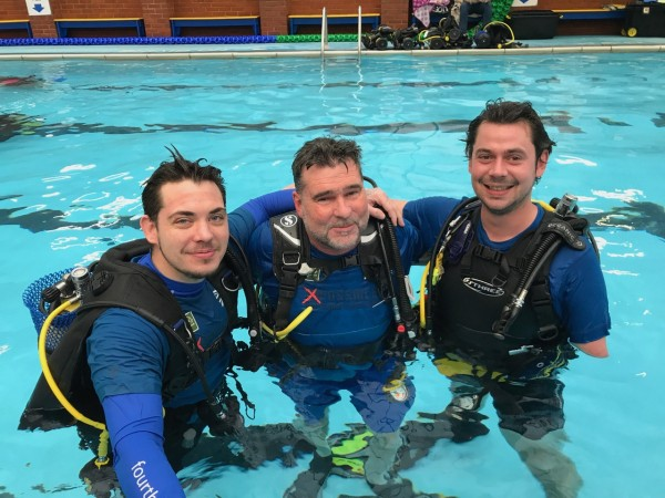 (4) Gary, Colin and Chris post-dive. Photo - Richard Cullen for Deptherapy