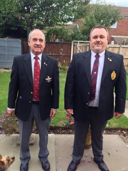 Geoff Deaney with son Andy Deaney, who served in the REME.