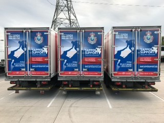 Sapper Support's livery on Moran Logistics vehicles