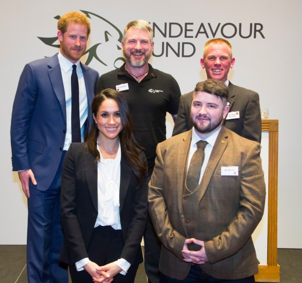 Endeavour Award Winner, Deptherapy Ambassador and Programme Member Ben Lee with fellow Award Winners, HRH Prince Harry and Ms Meghan Markle at the Royal Foundation's Endeavour Awards on 1st February 2018 in London (Photo - Courtesy of The Royal Foundation's Endeavour Fund).
