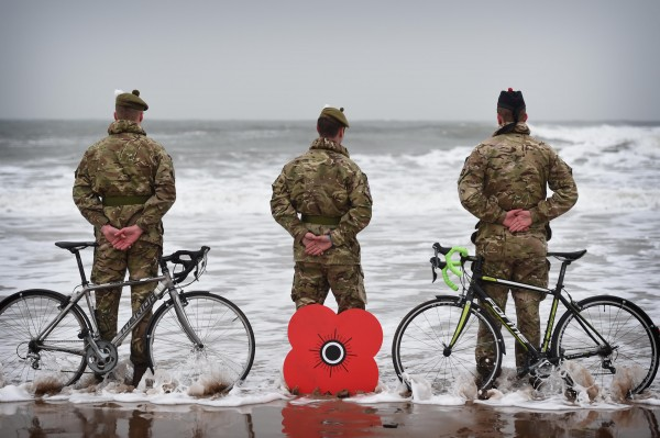 Photo Caption:- L to R Fusilier Alastair Murphy (21), centre Graeme Findlay (30) and Fusilier Stuart Wheeler (29) with their bikes alongside some of the beautiful Scottish countryside the sportive passes by. SOLDIERS GET ON THEIR BIKES TO LAUNCH POPPYSCOTLAND SPORTIVE Soldiers from 2 SCOTS will ride them on the beaches as they get on their bikes in East Lothian to help launch the 2018 Poppyscotland Sportive. The annual mass participation cycling event aims to raise funds for the leading Armed Forces charity and takes place in the county in September. Last year, more than 700 riders took part, raising nearly £50,000, but, in 2018, Poppyscotland is hoping to hit the 1,000-rider barrier. The Poppyscotland Sportive, which was launched in 2014 and has been voted one of the top three Sportives in Scotland, gives riders a choice of three routes to suit a variety of levels of experience and fitness. New for this year, though, is a timed hill climb in North Berwick (hence the choice of location for this photocall) allowing riders to battle it out to become the King or Queen of the Heugh Hill. The event, which runs on Sunday, 30th September and is sponsored by Fred Olsen Renewables, is open to everyone with riders able to pick routes at lengths of 45, 66 or 100 miles. All three take participants along the beautiful East Lothian coast and then back though its stunning hills and countryside, with the 100-mile circuit also taking riders into the Scottish Borders. It is important to note that the Poppyscotland Sportive is not a closed road event. Organiser Katriona Harding said: ÒPoppyscotland Sportive has sold out each of the past four years and we expect it to be fully subscribed again this year, so we urge people to register early. It is one of the most important awareness-raising and fundraising events in our calendar and has grown steadily in popularity since it was first launched in 2014. We have had amazing support from both the cycling community and East Lothian Council over the past four years, helping us grow this event and create a fantastic experience for all of our fantastic fundraisers.Ó Best known for running the iconic Poppy Appeal, Poppyscotland reaches out to those who have served, those still serving, and their families at times of crisis and need by offering vital, practical advice, assistance and funding. The charity believes that no veteran should live without the prospect of employment, good health and a home, and we all have part to play in achieving this. ENDSÉ
