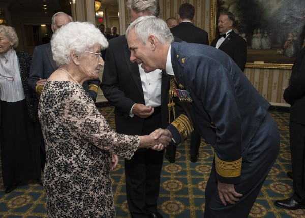 Rose Davies meets former Chief of the Air Staff, Air Chief Marshal Sir Andrew Pulford at Washington