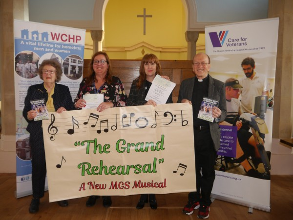 (l-r) Brenda Churchman, Sue Stevens (WCHP), Elizabeth Baxter (Care for Veterans) and Reverend Roger Wood