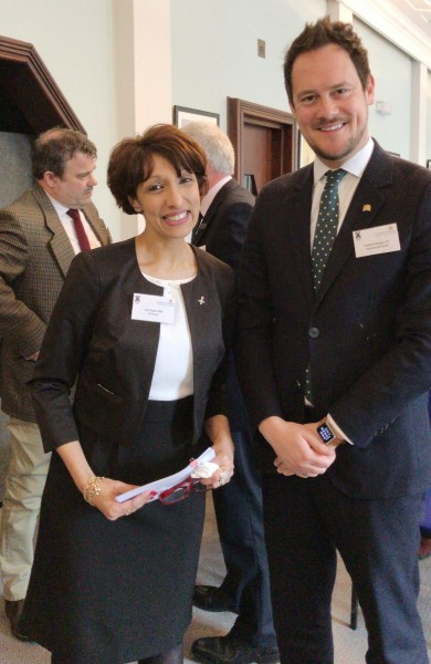 Ren Kapur MBE, X-Forces Enterprise CEO and Founder with Stephen Morgan MP
