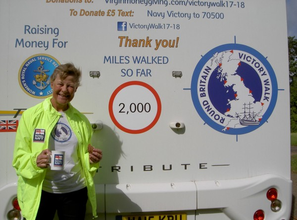 Jane Allen at 2000 miles (Wick)