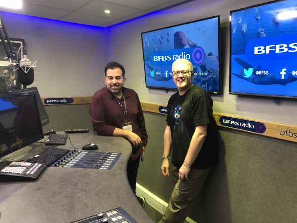 Lenny Fontana and Neil Moore record 'Lenny Fontana's House Sound of New York for Forces Radio BFBS'