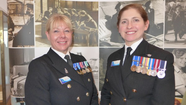 L TO R Heather Rimmer & Catherine Jordan wearing their badges of office