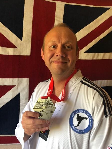 Steve Birkin Team GB silver medal