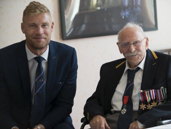 Freddie Flintoff with George Simms